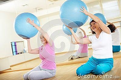 Exercice avec des boules