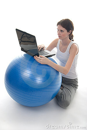 Exercise Ball Desk 1