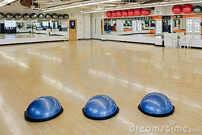 Exercise balls in gym