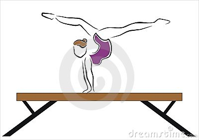 Exercise on the bar