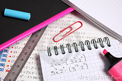 Exercise book and school accessories
