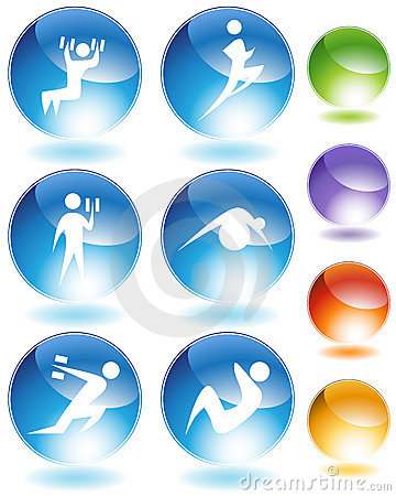 Exercise Crystal Icon Set