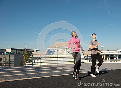 Exercise on the roof