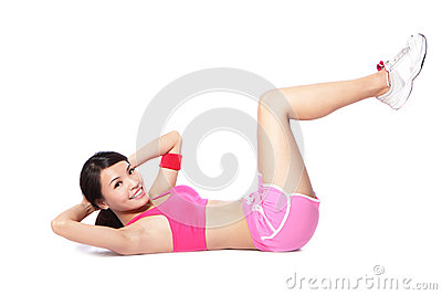 Exercise woman doing situps