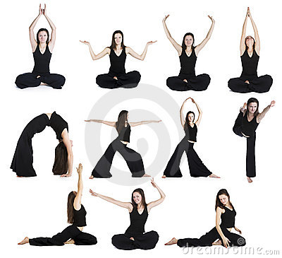 Exercises of yoga