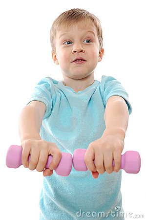 Free Exercising Child Royalty Free Stock Photos - 12092118
