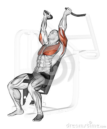 Free Exercising. End Of The Upper Block On The Simulato Royalty Free Stock Photos - 44124618