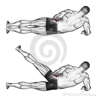 Free Exercising. Foot Moves To The Side, Lying On Its S Stock Photo - 43638920