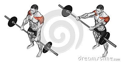 Exercising. Lifts forward