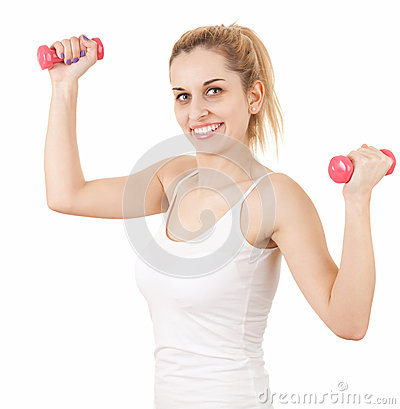 Exercising young woman