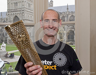 Exeter Olympic Torchbear Paul Giblin Editorial Stock Photo