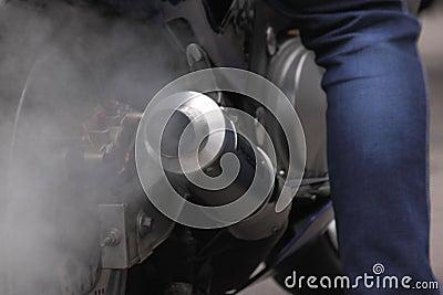 Exhaust of motorcycle