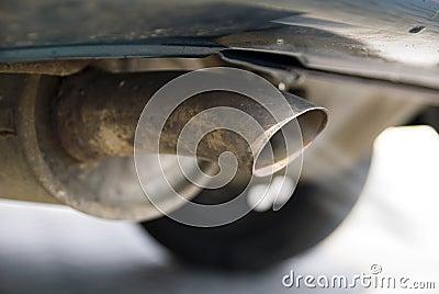 Exhaust of a passenger car