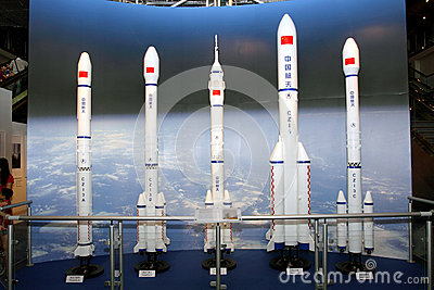 Exhibition on China s Manned Space Docking Missio Editorial Stock Image