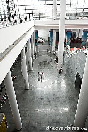 The exhibition hall interior Editorial Stock Photo