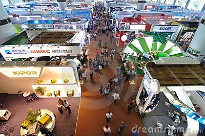 Exhibition hall of machinery and equipment Editorial Photo