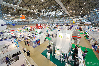 Exhibition of medical technologies in Russia Editorial Stock Photo