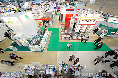 Exhibition of medical technologies in Russia Editorial Photography