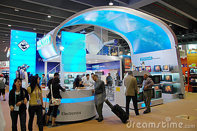Exhibition Sections of  Electronics & Household Editorial Stock Photo