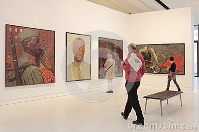 Exhibition The Soviet Myth in the Drents Museum in Assen Editorial Photo