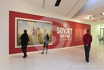 Exhibition The Soviet Myth in the Drents Museum in Assen Editorial Stock Photo
