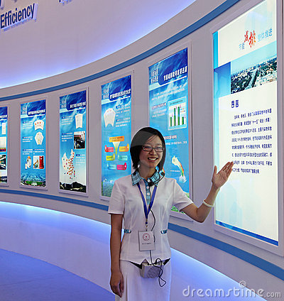 Exhibition staff Editorial Stock Image