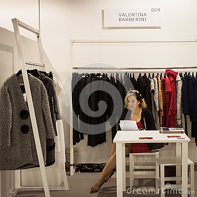 Exhibitor At Mipap Trade Show In Milan, Italy Editorial ...
