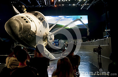 Exibição Atlantis do vaivém espacial Imagem de Stock Editorial
