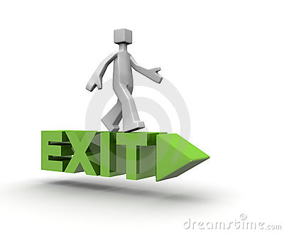 Exit direction icon