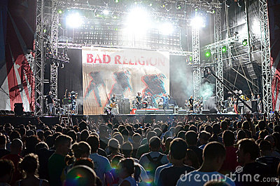 Exit Festival - Bad Religion Editorial Stock Photo