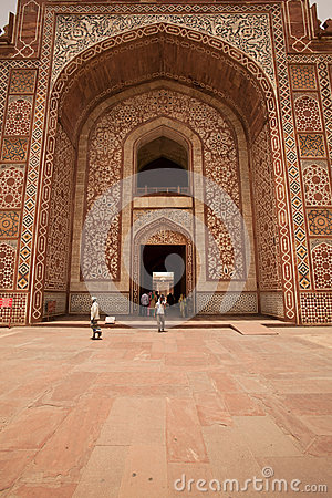 Exit gate from the Sikandar Fort in Rajasthan Editorial Stock Image