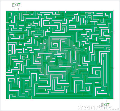 Exit from the labyrinth