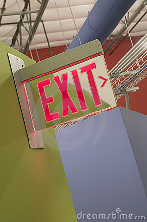 Free Exit Sign Royalty Free Stock Image - 9107526