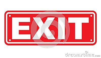 Exit sign or symbol