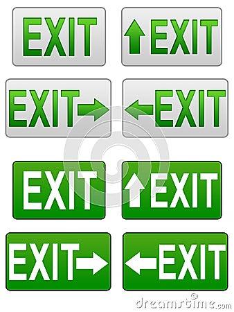 Exit symbols