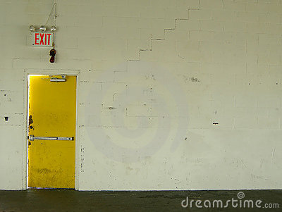 Exit yellow door