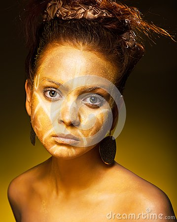 Exotic African female fashion face