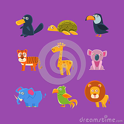 Free Exotic Animals Fauna Set Royalty Free Stock Photos - 75799138