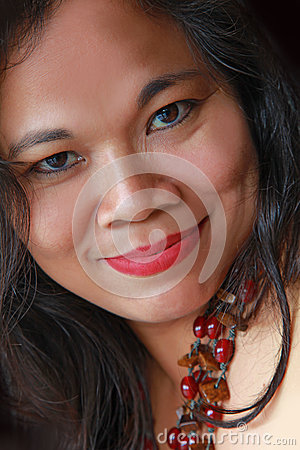 Exotic asian woman smiling