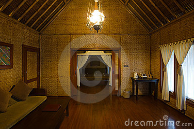 Designs Of Bamboo Huts Exotic Hut Interior Royalty Free Stock Photo Image