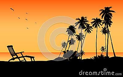 Exotic beach travel destination