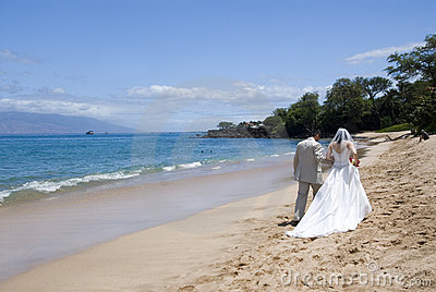 Exotic Beach Wedding Med. Wide Stock Photo - Image: 3120590