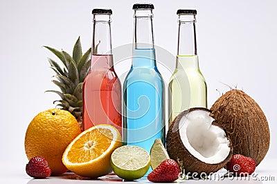 Exotic bottle alcohol cocktails