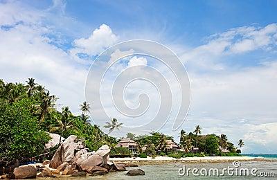 Exotic coast landscape