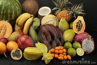 Exotic fruit arrangement