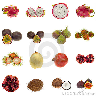 Free Exotic Fruit Collection Stock Images - 6433244