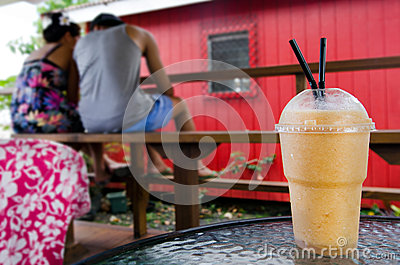 Exotic fruit drink shake Editorial Stock Photo