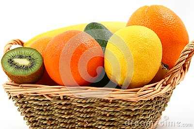 Exotic fruits basket