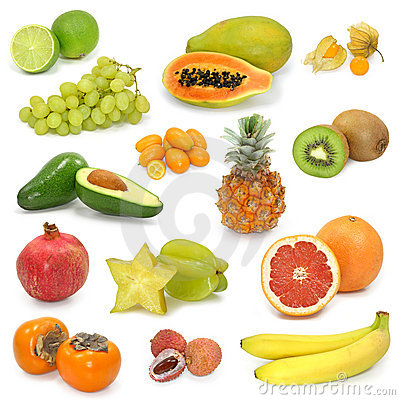 Free Exotic Fruits Collection Royalty Free Stock Images - 4279289
