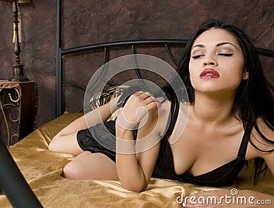 Exotic Girl in Bed